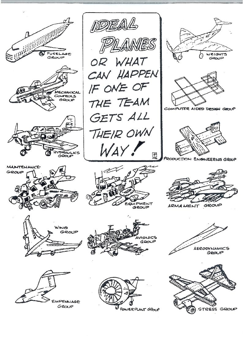 wildly different airplane designs by different teams